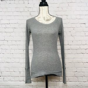 Womens Mossimo Gray Thermal long Sleeve Small